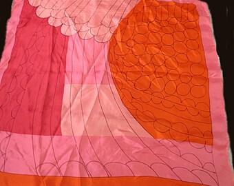 "VERA Rayon Silk Blend Retro Vintage  27"" X 27""  #217"