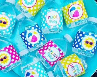 Splash Water Bottle Labels Printable - Instant Download - Splish Splash Collection