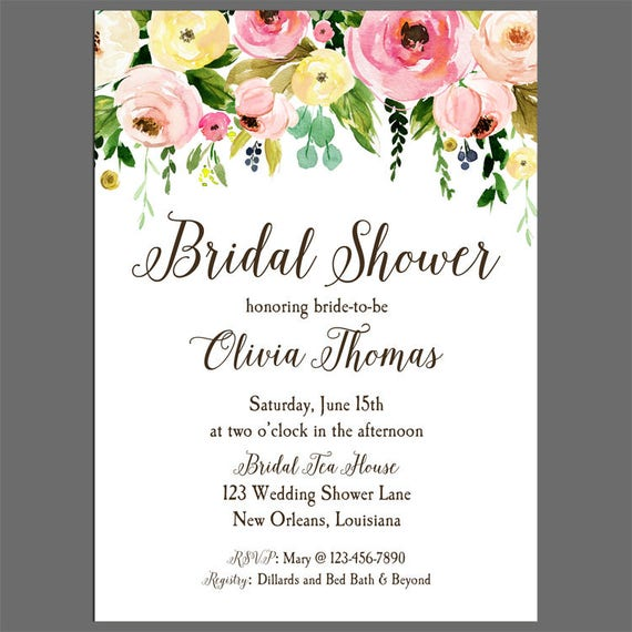Bridal shower invitation printable or printed with free shipping il570xn filmwisefo