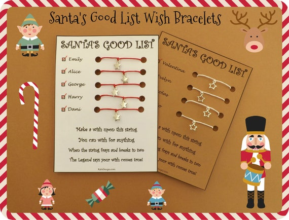 SANTAS GOOD LIST Wish Bracelet