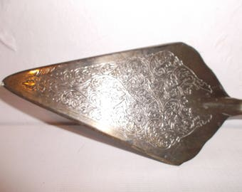 Antique English Silver Plated Cake or Pie Server Circa 1900s Serving Utensil