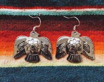 RCE-11, Repurposed vintage thunderbird  concho earrings