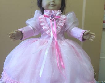 American Girl Hand made Pink Sparkle Dress
