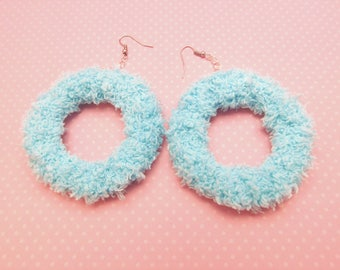 Soft fairy donut earrings (sky)