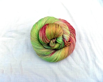 Hand dyed SW Merino, Cashmere, Nylon fingering weight yarn, 460 yds