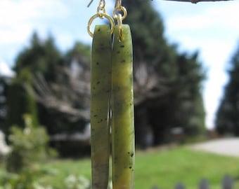 Mid Week Sale ---- Wyoming Jade (Kiwi Jade) Earrings