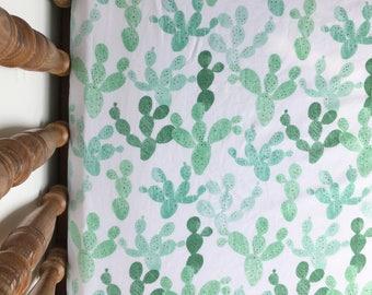 Boho Baby Bedding / Cactus Nursery Bedding, Boho Crib Sheet, Fitted Crib Sheet, Mini Crib Sheet, Boho Crib Bedding, Cactus Crib Bedding