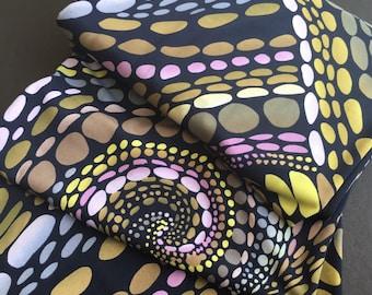 Dot Swirl Printed Knit Fabric