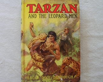 "Vintage 1935 1st Edition ""Tarzan and the Leopard Men"" by EDGAR RICE BURROUGHS"