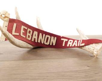 Vintage Lebanon Trail Felt Pennant
