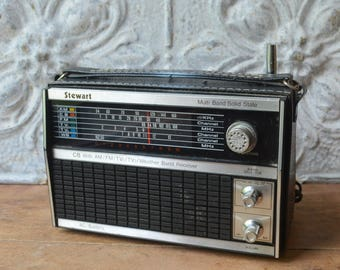 Vintage Radio With CB And Weather Band Receiver