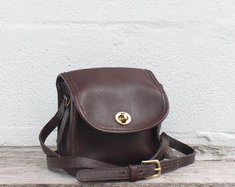 COACH 9018 Emmie Purse in Dark Brown Leather