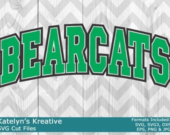 Bearcats Arched SVG Files