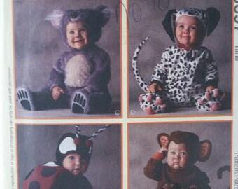 UNCUT Animals McCall's Ladybug Monkey Koala Bear & Dalmation Costumes Child Unisex Girl Boy Halloween Costumes 8897 Sewing Pattern Size 2