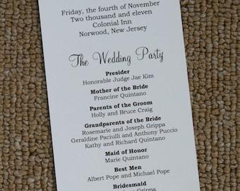 Falling Leaves Wedding Program