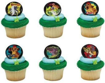 24 Lion Guard Cupcake Cake Rings Birthday Party Favors Toppers Mark Of The Guard