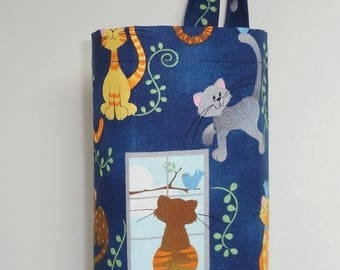SPRING FORWARD SALE Plastic Bag Holder Grocery Bag Holder Storage Kitchen Bag Storage Tiger Cat
