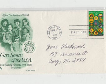 Girl Scouts of the U.S.A. First Day Postal Cover 1987