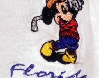 vtg 80s 90s Mickey Unlimited Mickey Mouse Florida Golf T-Shirt golfer SZ L