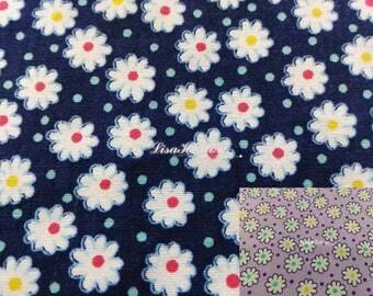 Cute flower and polka dot, 1/2 yard, pure cotton fabric