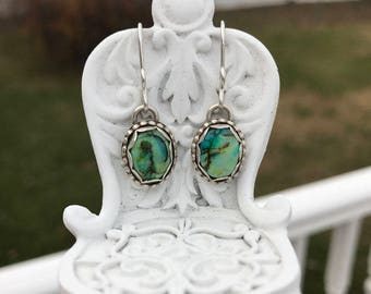 Cultured Opal Ear Wire Earrings