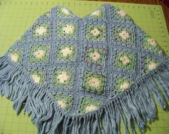 Blue Crochet! Child Poncho