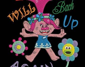 Trolls Branch and Poppy Machine Embroidery Design - 5x7