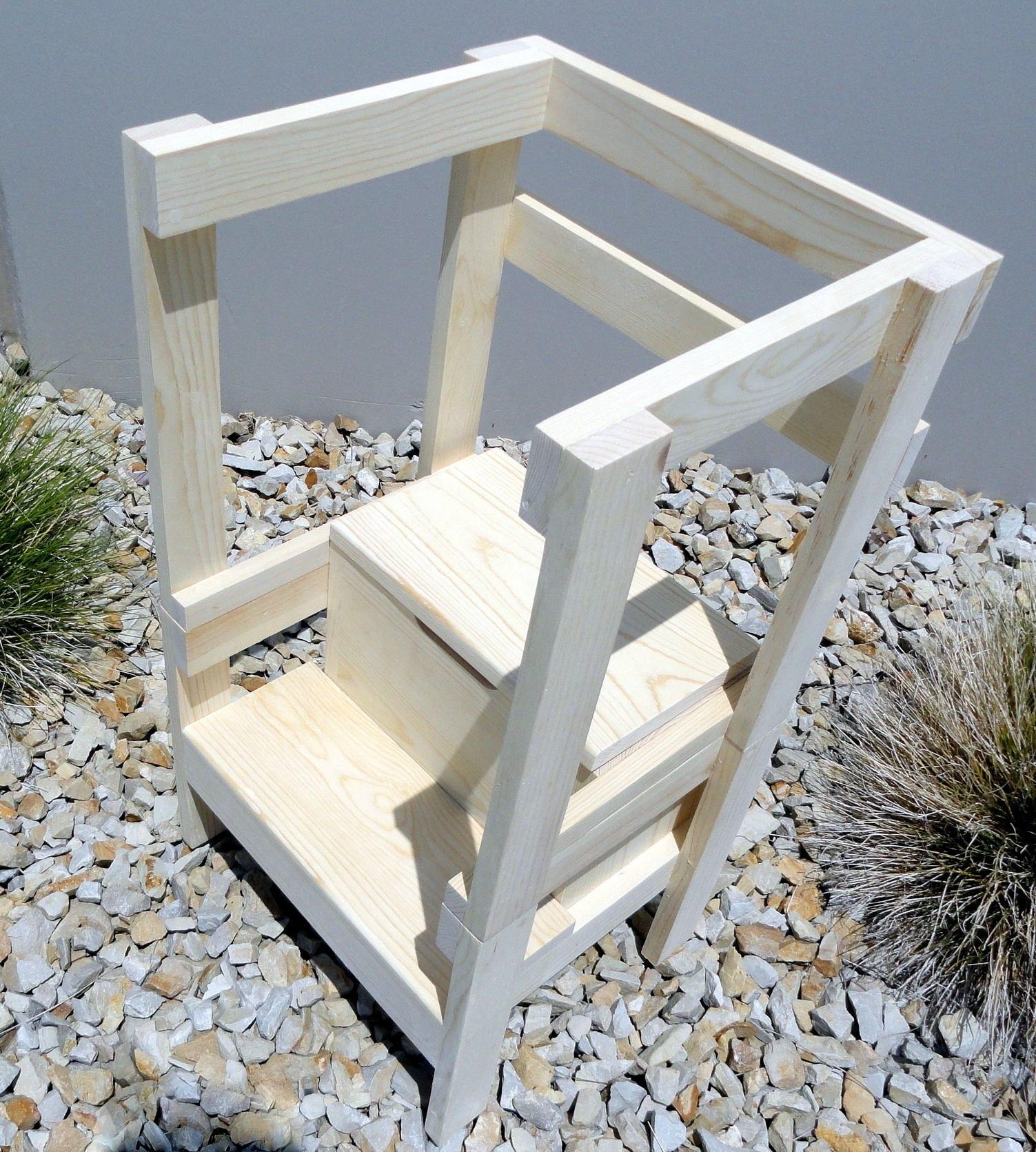 14 toddler storage step stool with side rails. Black Bedroom Furniture Sets. Home Design Ideas