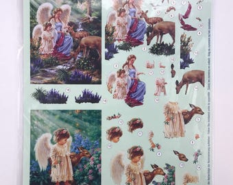 European Decoupage Die Cuts - Angels 9025