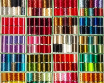 15% off on Silk Thread, 200 Spools Wholesale Indian Silk Thread, Art Silk Thread, Hand And Machine Embroidery Thread