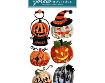 PUMPKIN SNOW GLOBES Halloween Stickers by Jolee's Boutique