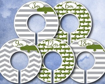 Baby Closet Dividers - Clothes Organizers - Gator Gray - Nursery