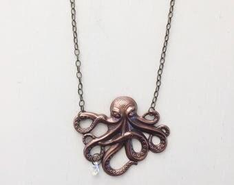 Grand Octopus Necklace || Ocean Necklace, Nautical Necklace, Beach Necklace, Beachy Necklace, Long Necklace