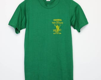 Van Halen Shirt Vintage tshirt 1980 Electric Factory Concerts Rail Sold Out 1980s Sammy Hagar David Lee Roth Alex Eddie Heavy Metal Rock