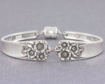 Silverware Bracelet - April 1950 Antique Silverware - Spoon Jewelry