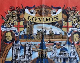 Vista Cotton Dish Towel Tea Towel London Vintage TeaTowel Made in Britain