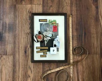 Nap Time, Assemblage Art, Altered Art, Vintage, Toys, Boy, Original Art, Mixed Media Art