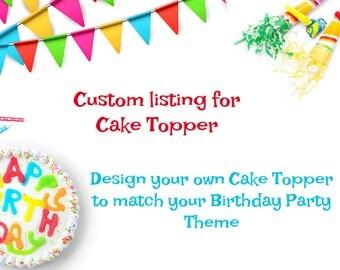 Cake Topper - cake bunting - 1st birthday - boy birthday banner - First Cake Topper - Custom Cake Topper - ONE cake topper - girl birthday