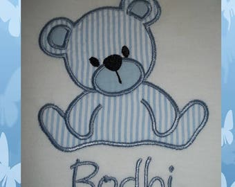 Bear - Teddy Bear - Short Sleeve Appliqued Tshirt - Infant and Toddler Size Tshirt - 6 months to 5/6