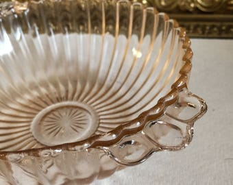 Pink Depression Glass Cereal Bowl Anchor Hocking Queen Mary