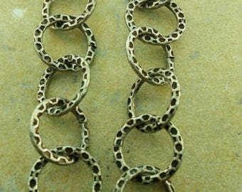 Antique silver textured chain