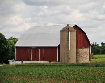 Wisconsin Barn, Country Barn, Country farm, Home decor, Wall decor, Country chic, Farm Decor, Cottage chic, Landscape Photo, Fine Art