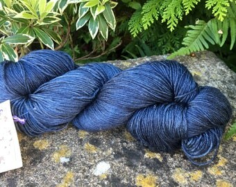"100grms hand painted silk / merino  lace weight yarn.""night sky's  """
