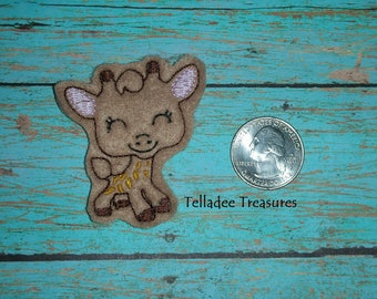 Giraffe Feltie Light Brown felt - Great for Hair Bows, Reels, Clips and Crafts - Cute Animal