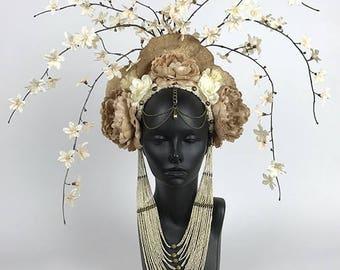 Flower & Mushroom Headdress Headpiece