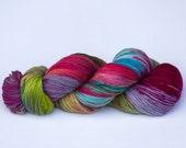 Laine teinte main tricotcolor fibre fil fourniture créative multicolore mercerie wool