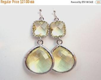 SALE Yellow Earrings, Silver Earrings Citrine, Jonquil, Bridesmaid Jewelry, Wedding Jewelry, Bridesmaid Earrings, Bridal Jewelry, Bridesmaid