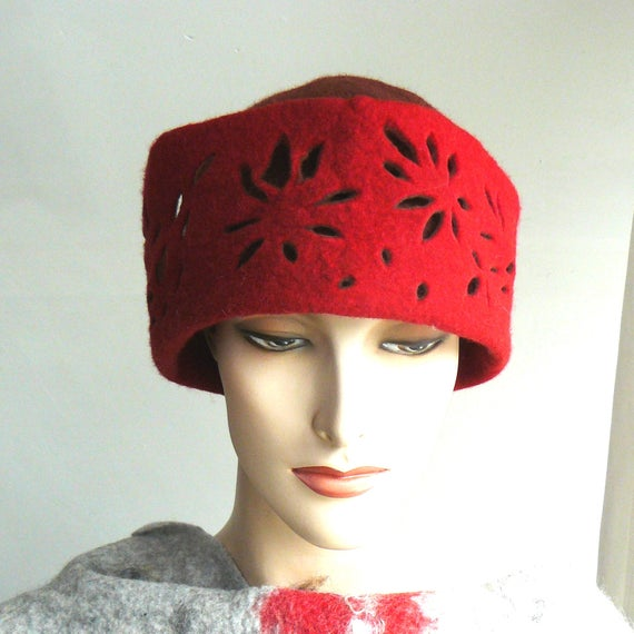 Clothing Gift Felt Hat, Felted Fedore Hat, Cloche Cap, Wool Cap, Statement accessorie