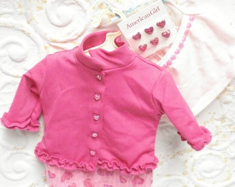 American Girl Today VALENTINE PARTY Pleasant Co Outfit Skirt Cami Jacket Hearts