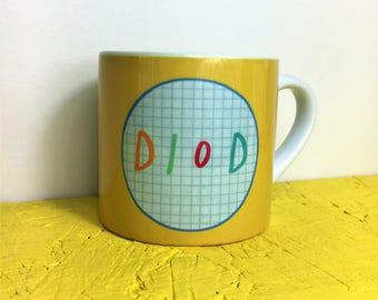 Kids Welsh Mug  - Diod Drink Yellow Unisex Toddler Ceramic Cup 8oz